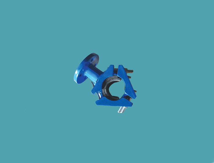 Saddle for DI Pipe with Flange Outlet